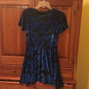 Floral Velvet dress